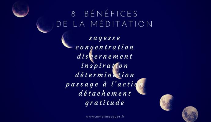 8 bénéfices de la méditation